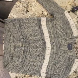 Charcoal and cream knitted sweater